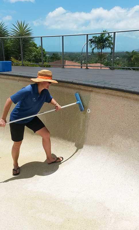 Acid Wash Pool Service : Mooroobool acid washing marlin swim pool service