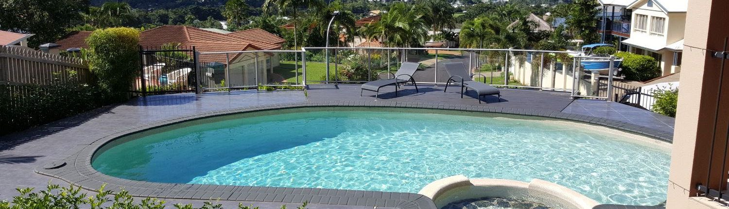 A pool that has been acid washed in Cairns.
