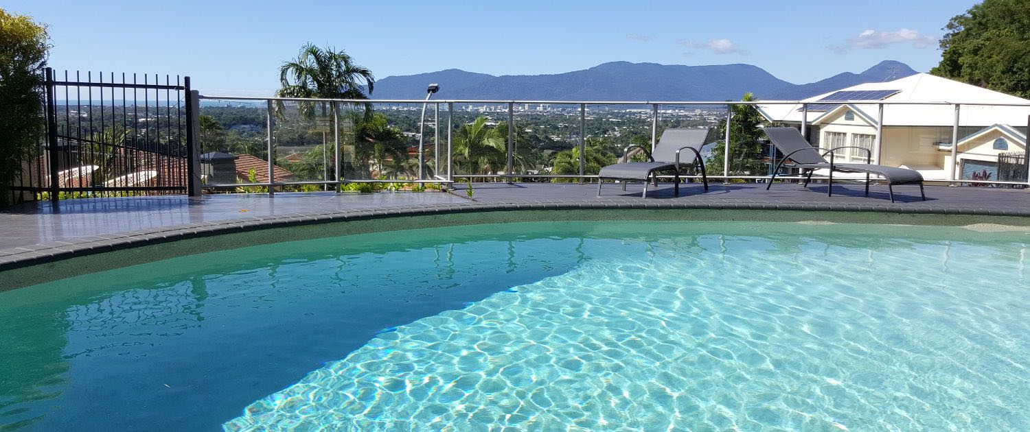 A pool fence that has been repaired in Cairns