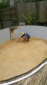 Preparation of an above ground pool vinyl liner replacement