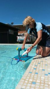Gretal testing repaired pool cleaner