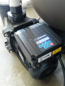 Hayward energy efficient pool pump showing pump controller