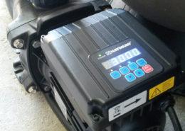 Hayward energy efficient pool pump showing pump controller